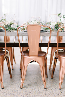 Copper furniture rentals