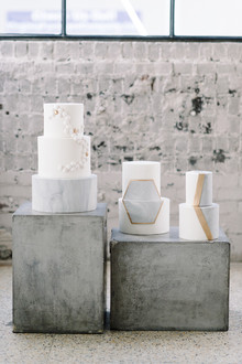 Industrial modern wedding cake