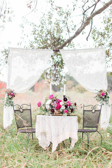Vintage pink + plum wedding