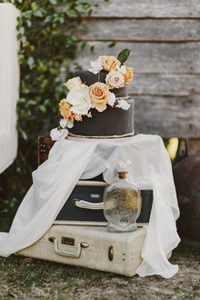 Dark wedding cake