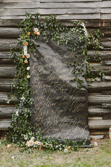 Gold calligraphy backdrop