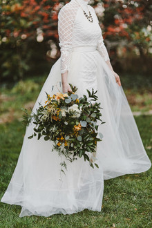 Edgy fall elopement inspiration