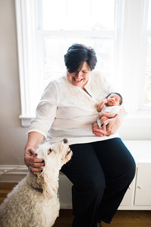 brooklyn newborn photos with grandma