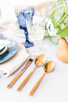Copper wedding flatware