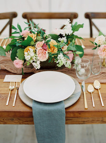 Spring wedding place setting