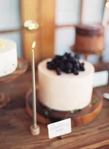 Romantic winter baby shower cakes