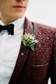 Snowy wedding portraits