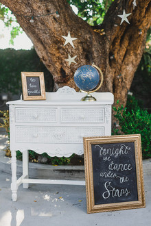 Moon and stars themed wedding