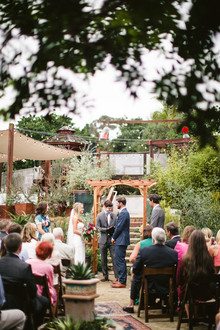 DIY garden wedding