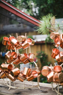 Copper monogrammed cups