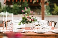 Copper tablescape details