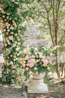Intimate European garden wedding