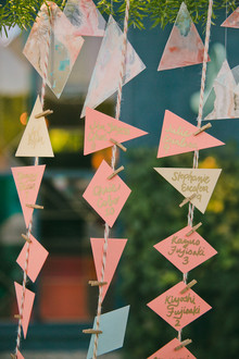 Geometric escort cards