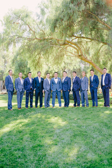 Blue groomsmen suites