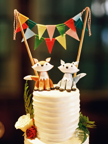 Fox wedding cake