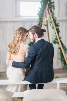 Modern barn wedding inspiration