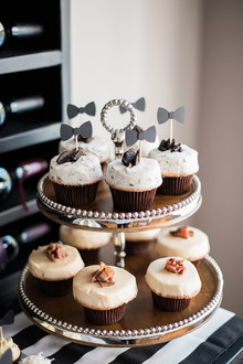 black and white baby shower