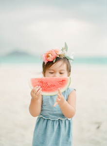 watermelon and flower crowns
