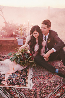 Bohemian Arizona desert wedding inspiration