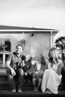 Family photos at home in Los Angeles
