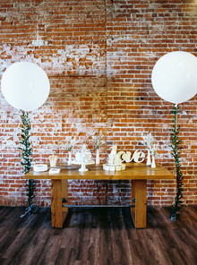 Urban loft baby shower