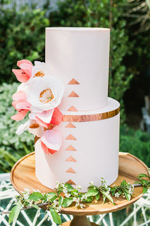 Peach and copper cake