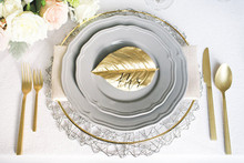 Gold leaf place card
