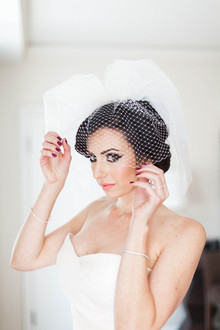 60's inspired bubble veil