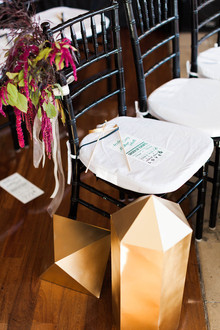 Modern ceremony decor
