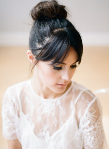 Top knot bridal hairstyle
