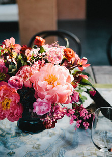 Pink peony florals