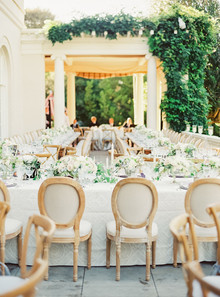 Classic garden villa wedding in California