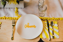 Sunny yellow baby shower ideas