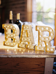 Marquee bar signage
