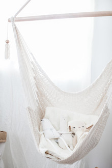 all white bohemian modern nursery