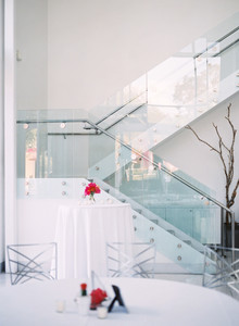 Simple modern wedding decor