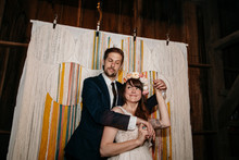 Yarn photo backdrop