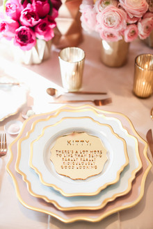Vintage pink wedding decor