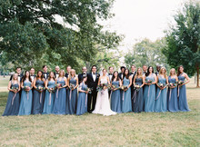 Blue Jenny Yoo bridesmaid dresses