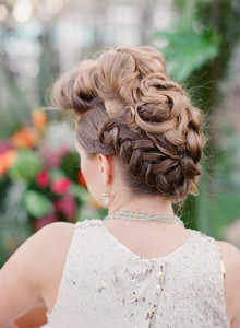 Modern wedding hairstyle