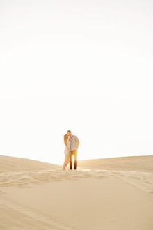 Desert sand dune engagement shoot