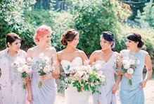 Pastelle bridesmaid dresses