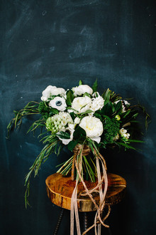 White anenome bouquet
