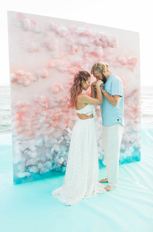 Unique ceremony backdrop