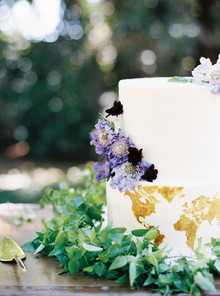 white romantic cake