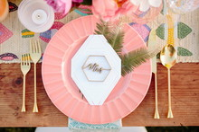 Modern summer place setting