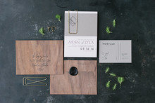 Masculine wedding invitations