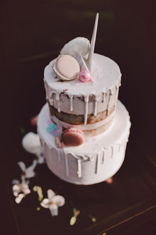 Whimsical wedding cake