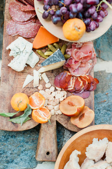 Charcuterie meat and cheese board