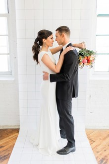 Industrial modern wedding